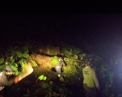 La lluvia provocó daños en varios sectores de Mixco. (Foto: Municipalidad de Mixco)