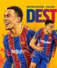 Sergiño Dest, nueva contratación del FC Barcelona. (Foto Prensa Libre: FC Barcelona)