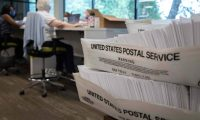 Worries about the unabated spread of the coronavirus are expected to prompt a major increase in the number of ballots cast by mail, as Americans avoid polling stations. (Photo by Logan Cyrus / AFP) (Photo by LOGAN CYRUS/AFP via Getty Images)