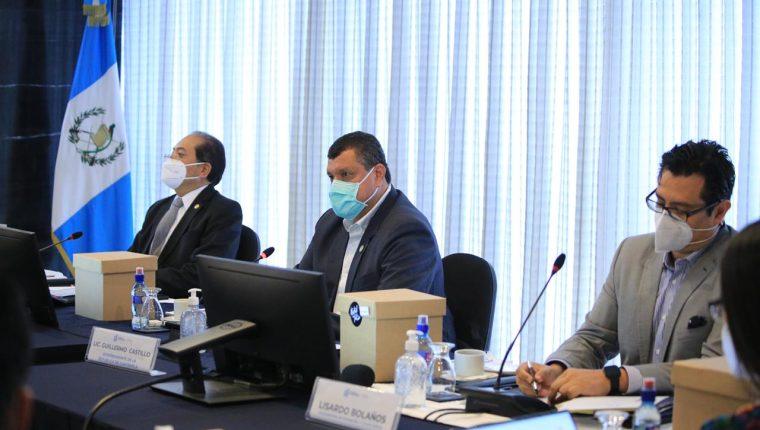 Guillermo Castillo, vicepresidente de la República, en reunión con el Gabinete Económico. (Foto Prensa Libre: Vicepresidencia)