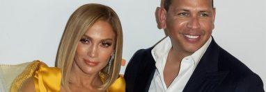 Las estrellas latinas Jennifer López y Alex Rodríguez, apoyan a Joe Biden. (Foto Prensa Libre: EFE)