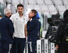 La Juventus se quedó con los tres puntos del duelo que no se jugó contra el Nápoli. (Foto Prensa Libre: AFP)