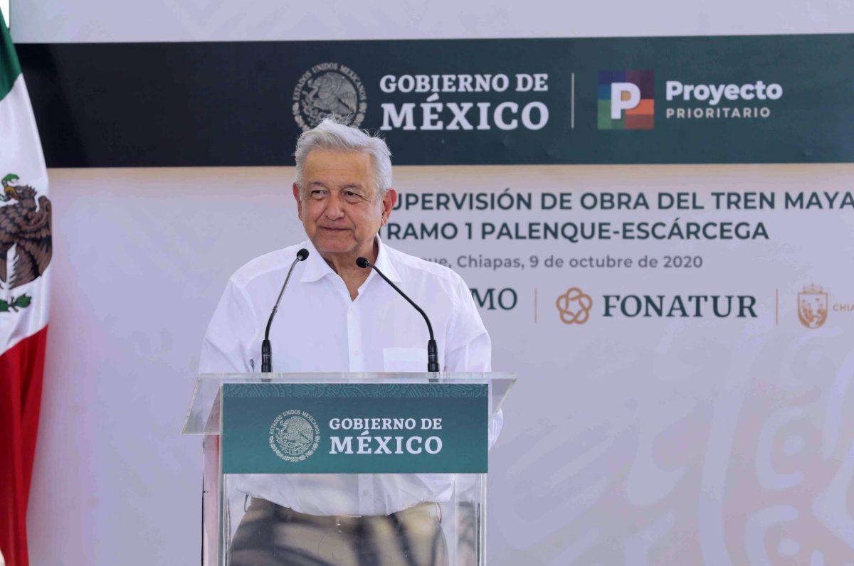 López Obrador pide a empresa de acelerar la obra del Tren Maya