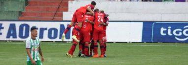 Malacateco festejó en el estadio Pensativo. (Foto Prensa Libre: Cortesía @andresNadf)