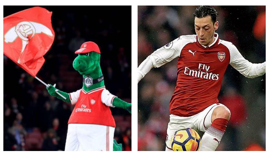 Quién es Gunnersaurus y qué lugar ocupa en el Arsenal (qué tiene que ver Mesut Özil con su historia)