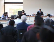Juez Mynor Moto, en audiencia por el caso Libramiento de Chimaltenango. (Foto Prensa Libre: Carlos Hernández)