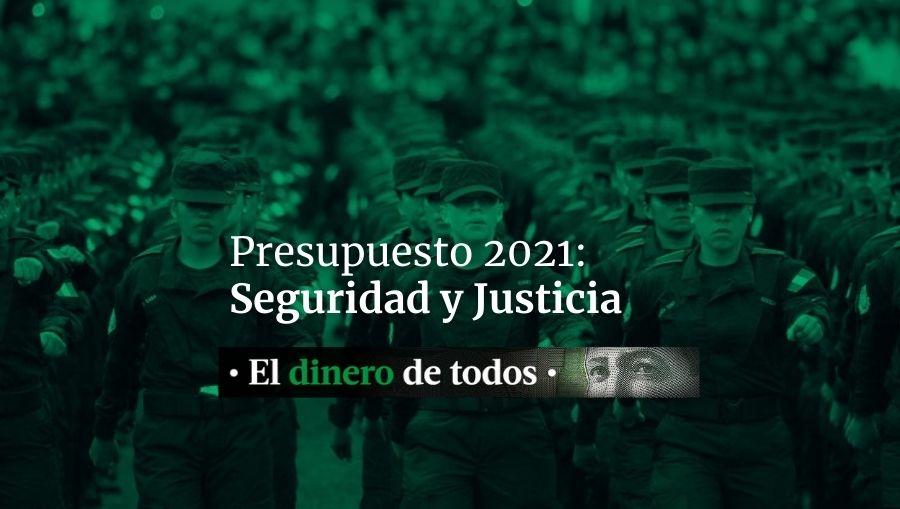 Presupuesto 2021: Seguridad y justicia representan el 9% del presupuesto nacional