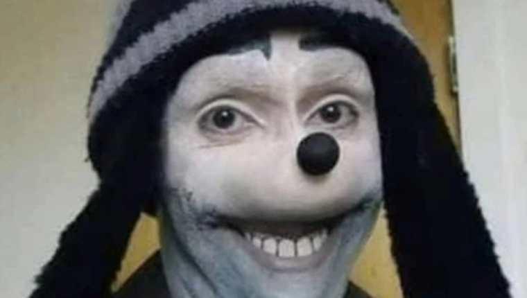 El personaje conocido como Jonathan Galindo emplea una versión distorsionada de la  imagen de Goofy. (Foto Prensa Libre: Facebook)