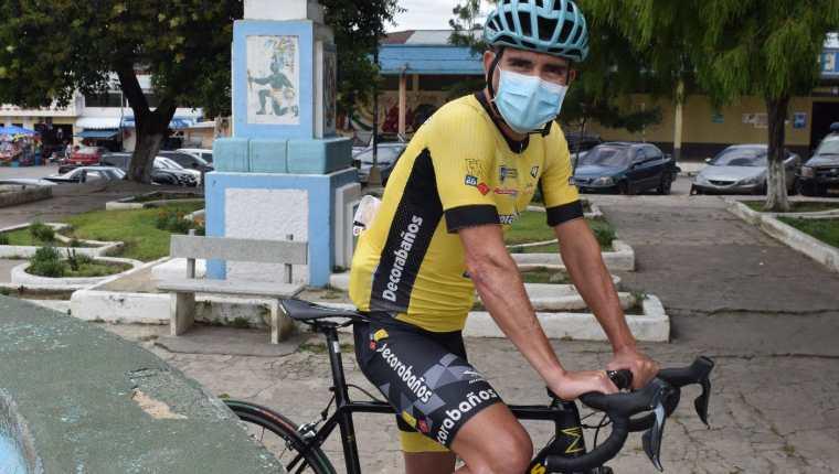 Manuel Rodas es el actual campeón de la Vuelta a Guatemala. (Foto Prensa Libre: Raúl Barreno).