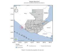 El temblor de este 25 de octubre de 2020 tuvo epicentro las costas de Chiapas, México, pero fue sensible en Guatemala. (Foto Prensa Libre: Insivumeh)