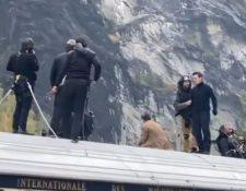 """Tom Cruise durante el rodaje de """"Misión Imposible 7"""". (Foto Prensa Libre: Tomada de Instagram/fotokjerrin)"""