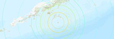 El estado de Alaska fue puesto en alerta de tsunami luego de que se registrara un terremoto de magnitud 7.4. (Foto Prensa Libre: twitter.com/USGS_Quakes)