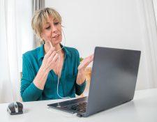¡Otra videoconferencia! Las reuniones virtuales pueden resultar agotadoras a la larga. (Foto Prensa Libre: Christin Klose/dpa).