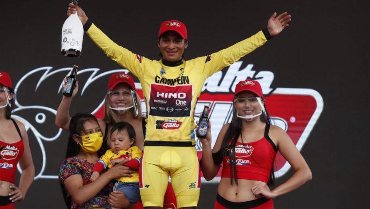 Mardoqueo Vázquez, campeón de la Vuelta a Guatemala 2020.