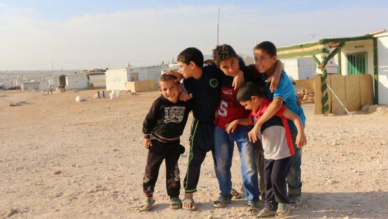 Uno de los destinos fue el campo de refugiados sirios Zaatari, en Jordania.