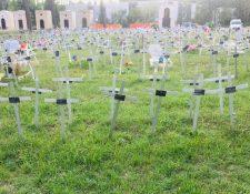 El jardín de los Ángeles del cementerio Flaminio da Prima Porta en Roma.
