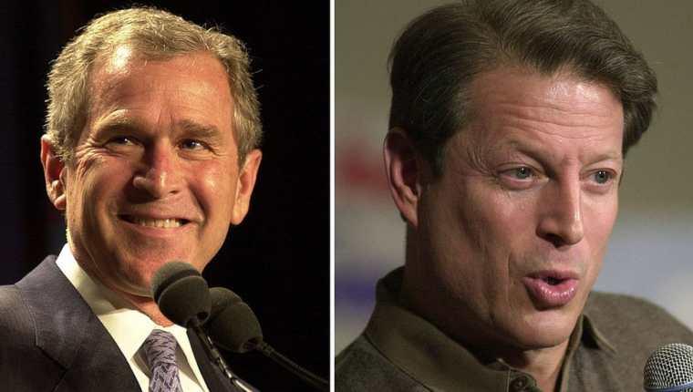 Al Gore y George W. Bush se enfrentaron en las elecciones del 2000.