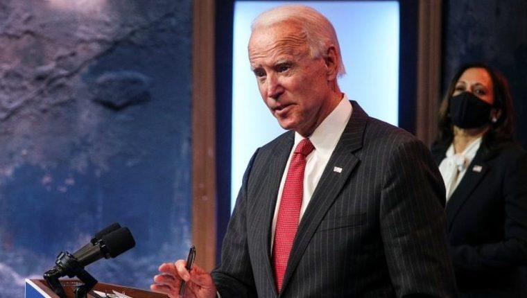 """Joe Biden dijo que """"la gran mayoría"""" de los estadounidenses creen que la elección fue """"legítima""""."""