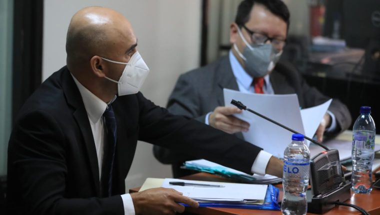 Ferdy Elías, exdiputado, en audiencia judicial. (Foto Prensa Libre: Juan Diego González)