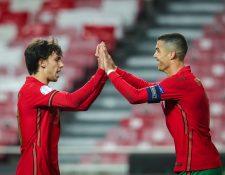 Cristiano Ronaldo anotó en la goleada de Portugal a Andorra y llegó a 102 goles con su selección. (Foto Prensa Libre: EFE)