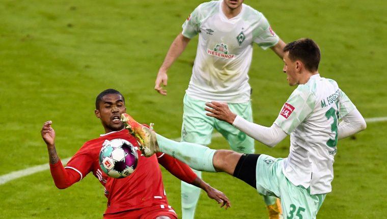 El Bayern Munich vino de atrás y rescató un empate ante el Werder Bremen. (Foto Prensa Libre: EFE)
