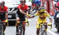 Mardoqueo Vázquez logró este título junto con su equipo que en cada etapa protegió su liderato. Foto Esbin García.