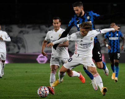 Inter de Milán se enfrenta al Real Madrid en Italia. Foto Prensa Libre: AFP.