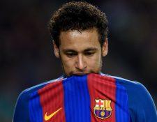 Neymar, exjugador del Barcelona y ahora jugador del PSG, fue demandado por el club catalán. (Foto Prensa Libre: AFP)