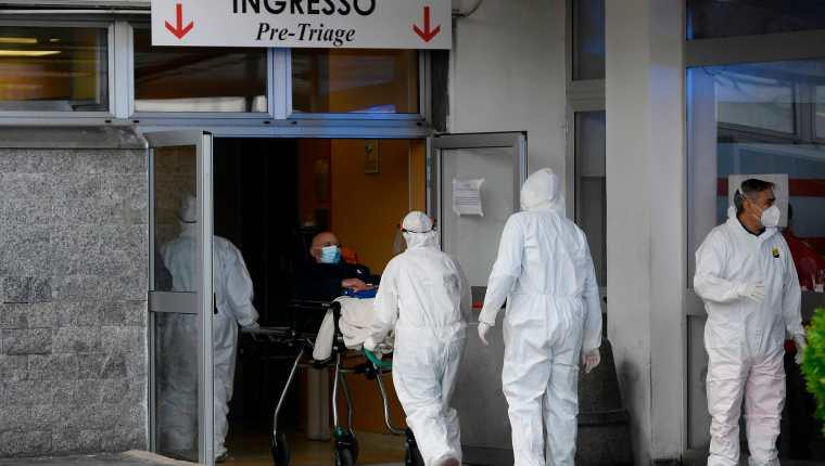 Hospital de Nápoles se encuentra al borde del colapso (Foto: AFP)