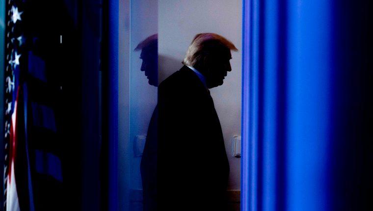 Presidente Donald Trump, el 13 de noviembre, luego de una conferencia de prensa en la Casa Blanca. (Foto: AFP)