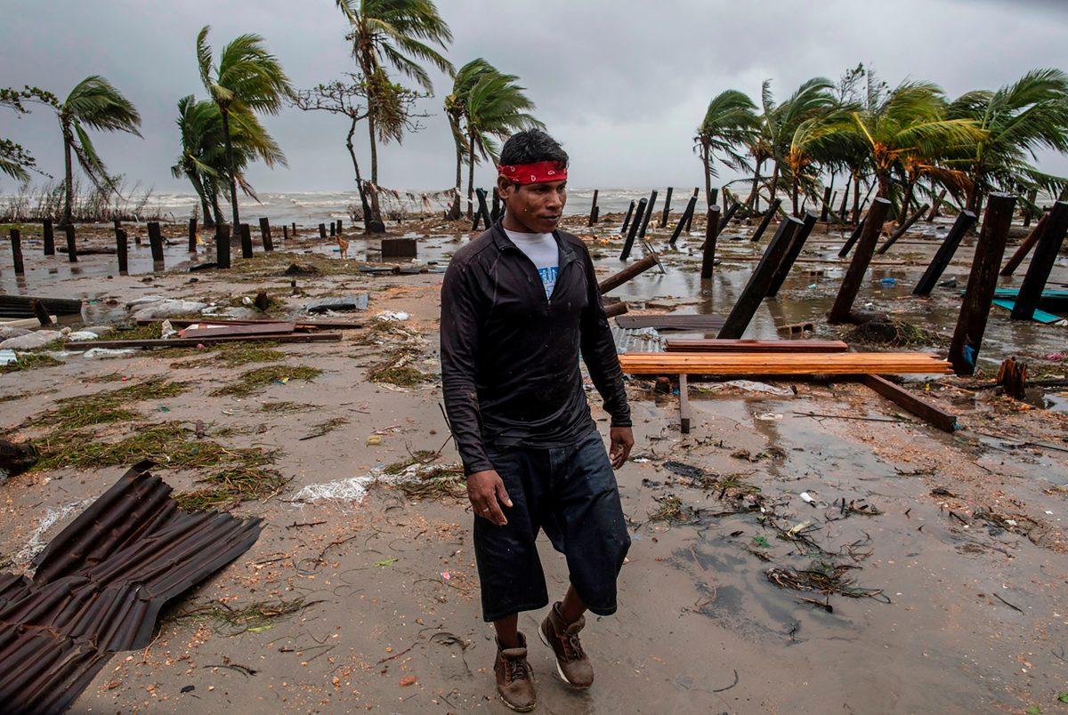 """El huracán Iota en Nicaragua """"fue como una película de terror"""", relatan ciudadanos"""