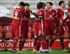El Liverpool suma 64 juegos de local sin perder en la Premier League. (Foto Prensa Libre: AFP)