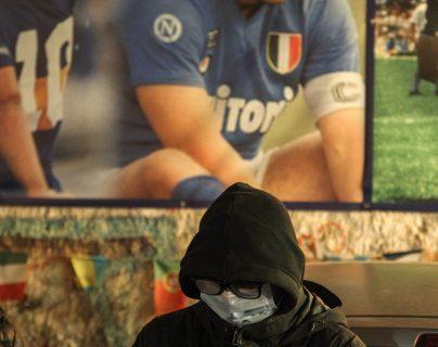 Luto en Argentina por la muerte de Diego Armando Maradona. Foto Prensa Libre: AFP
