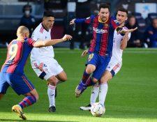 Lionel Messi descansa en Champions League por segunda ocasión. El fin de semana pasado jugó y marcó ante el Osasuna en La Liga. Foto Prensa Libre: AFP