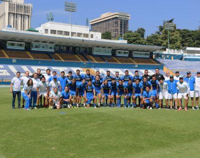 El plantel de la Selección Nacional está lista para enfrentar a Honduras. (Foto Prensa Libre: Cortesía Fedefut)
