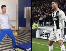 Djokovic se ha hecho viral por una celebración imitando a Cristiano Ronaldo.