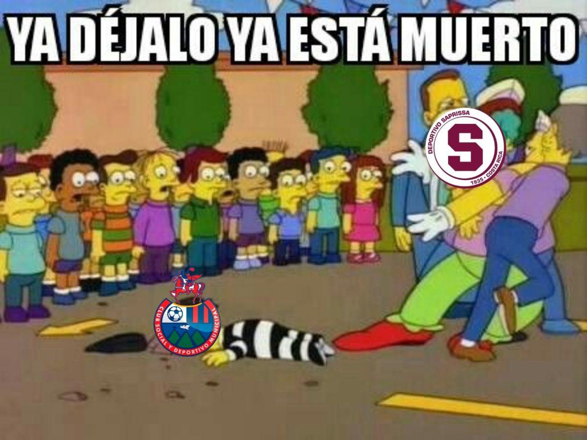 Los memes de la goleada de Saprissa (4-1) sobre Municipal en la Liga Concacaf