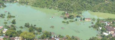 Vista del 10 de noviembre de la aldea Campur, San Pedro Carchá. (Foto Prensa Libre: Aeroclub/Facebook)