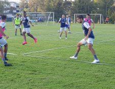 La Selección de Honduras, durante el entrenamiento de este viernes. (Foto Prensa Libre: Twitter Selección de Honduras)