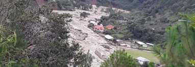 Comunidades de Huehuetenango han sido de las más afectadas por las inundaciones y derrumbes que dejó la depresión tropical Eta.  (Foto Prensa Libre: Mike Castillo)