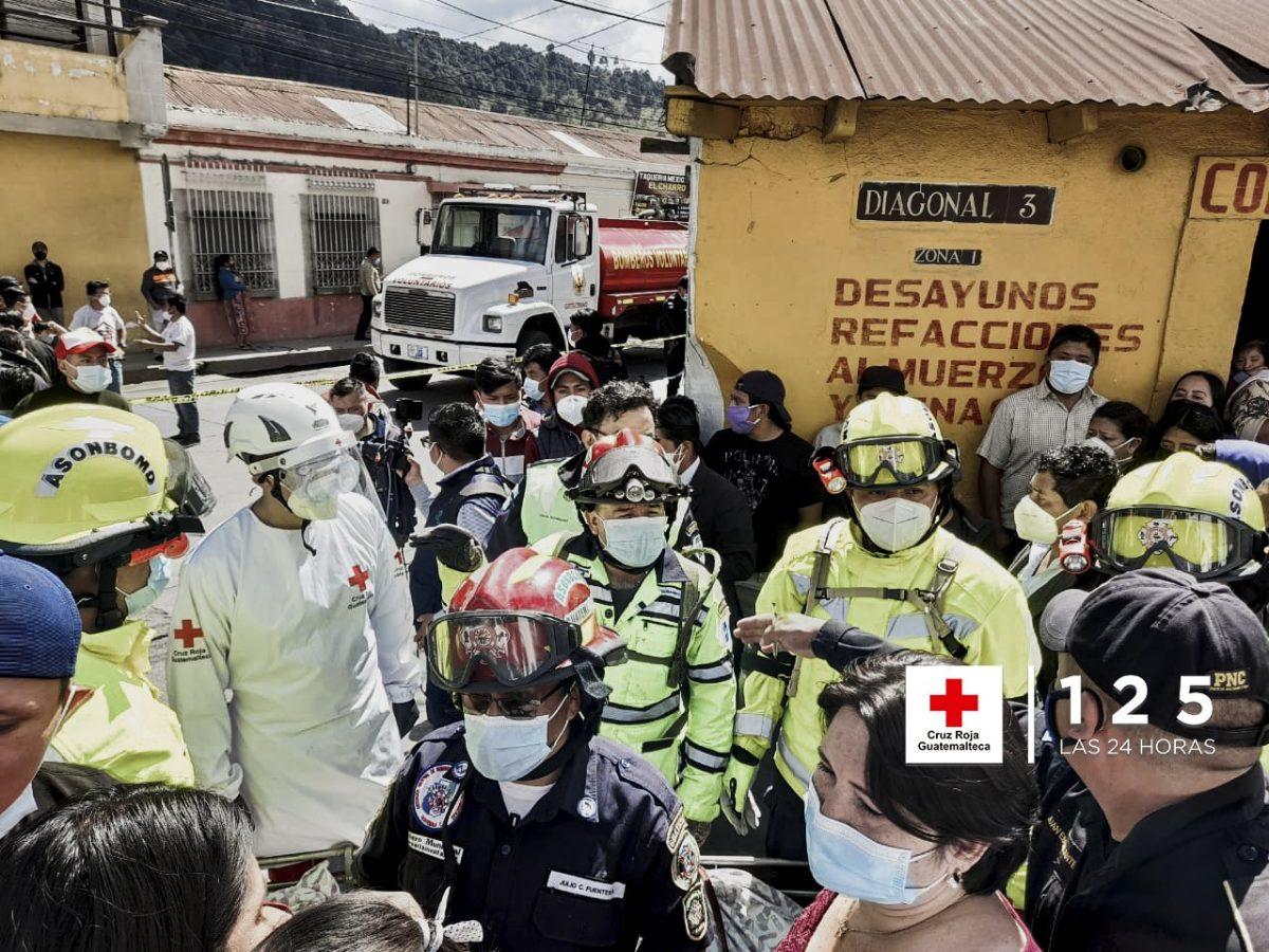 Incendio en cohetería de Xela deja una persona muerta