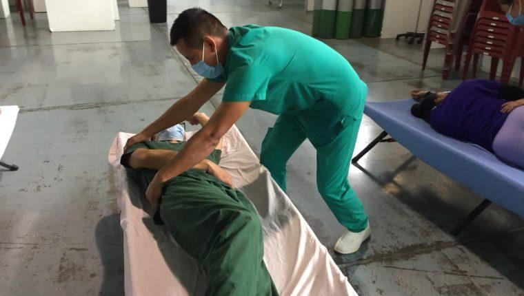 El hospital temporal del Parque de la Industria es uno de los habilitados para atender a pacientes con coronavirus. (Foto Prensa Libre: Ministerio de Salud)