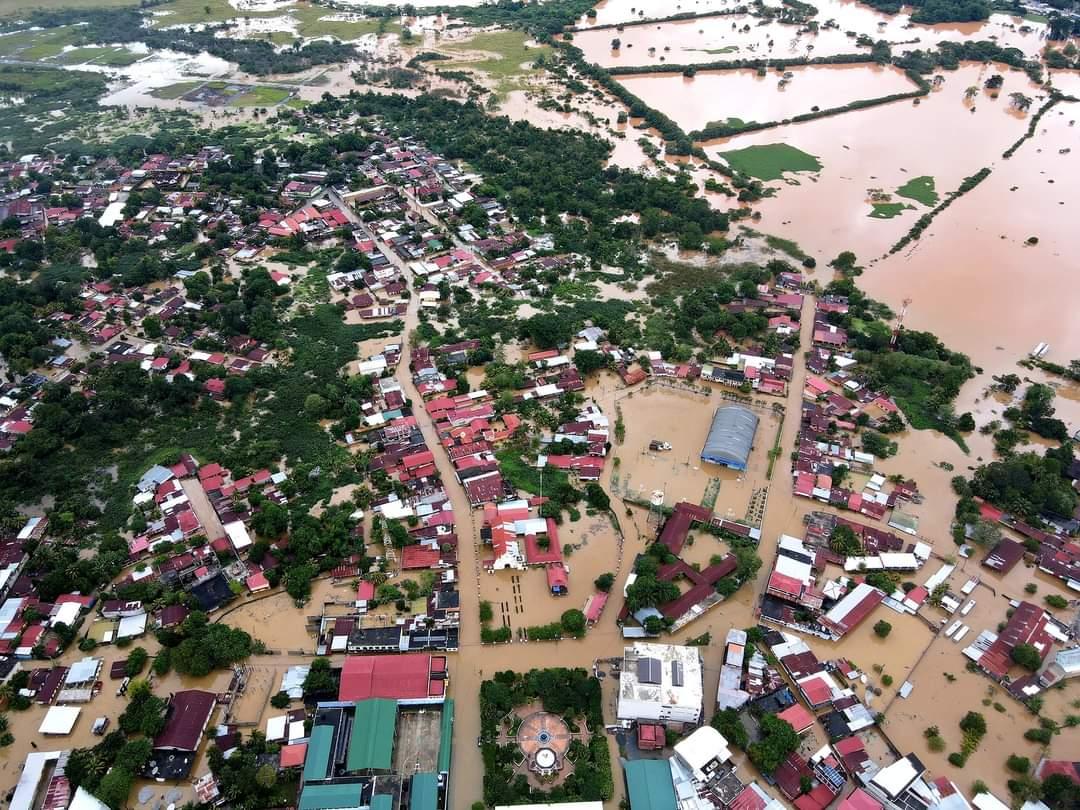 IMÁGENES de Izabal: Morales continúa afectado por inundaciones que dejaron Iota y Eta
