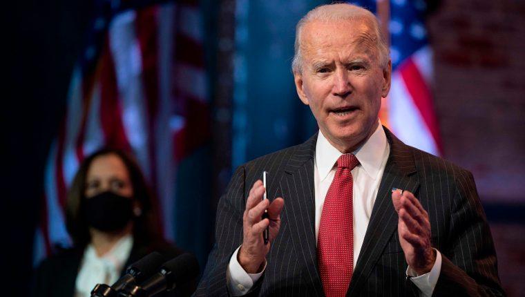 Joe Biden dijo la semana pasada que ya tenía el nombre de su próximo secretario del Tesoro y lo anunciaría antes o después del Día de Acción de Gracias. (Foto Prensa Libre: JIM WATSON / AFP).
