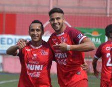 Pedro Báez fue uno de los anotadores por Malacateco en el triunfo 2-0 ante Guastatoya. (Foto Prensa Libre: Cortesía Andrés ADF)