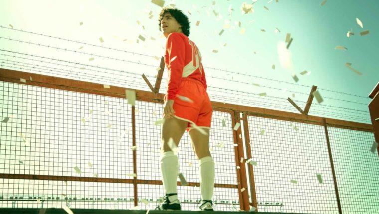 """""""Maradona, sueño bendito"""" será la primera serie para televisión del ex jugador argentino. Foto: Cortesía Amazon Prime Video."""