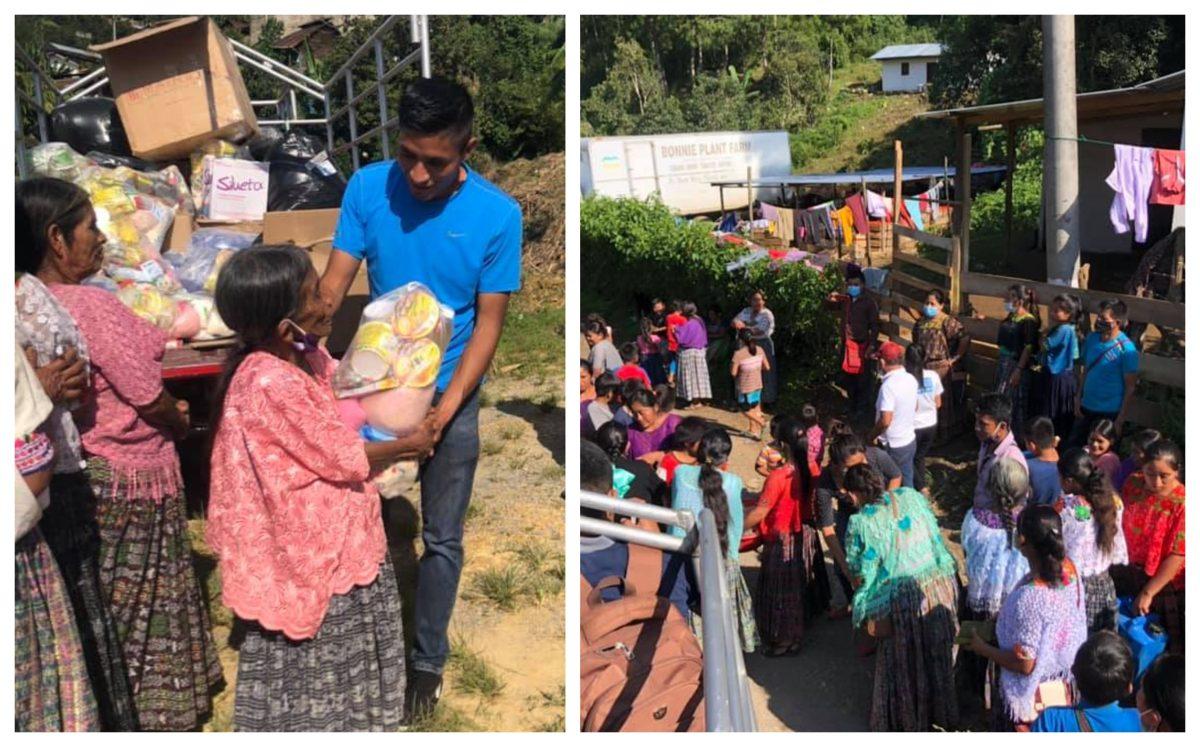 Mario Pacay entrega víveres y ropa a familias afectadas por Eta en Alta Verapaz