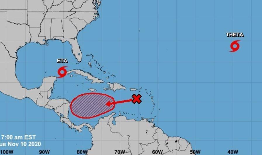Conred monitorea sistema  que en los próximos cinco días podría convertirse en depresión tropical