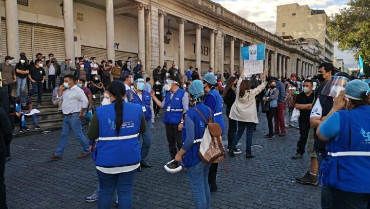 PDH durante protestas contra el presupuesto de 2021. (Foto: Hemeroteca PL)