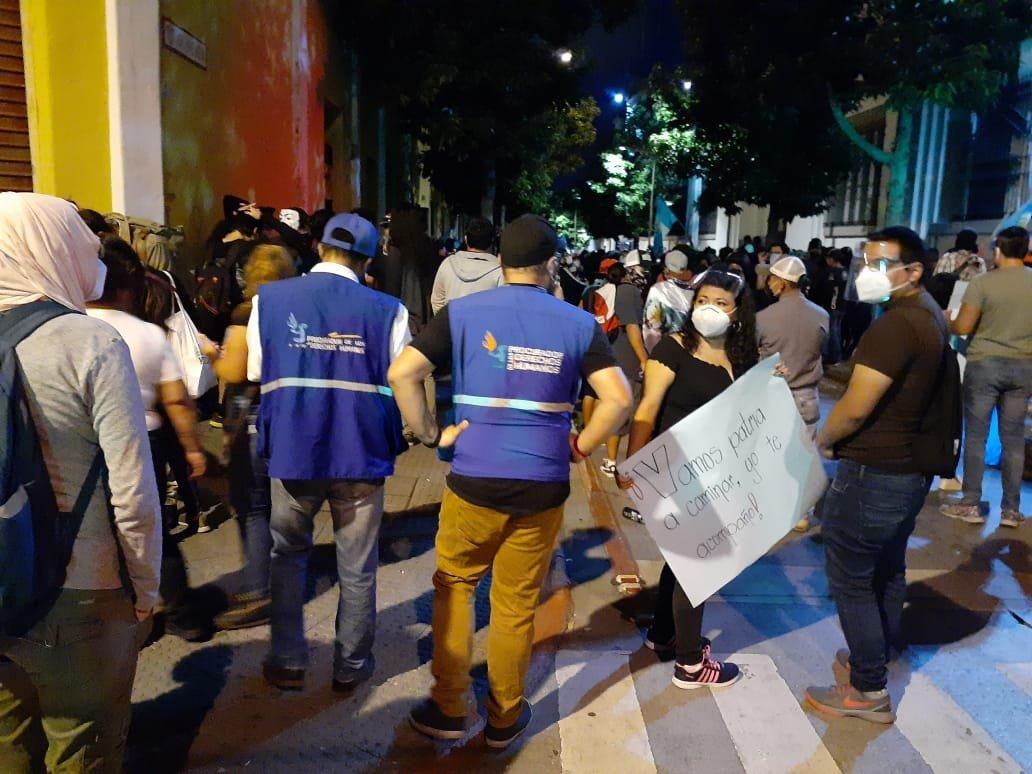 PDH denuncia agresiones durante protestas y reitera petición de destituir a ministro de Gobernación